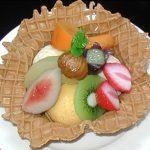 アイスとフルーツの盛合せ